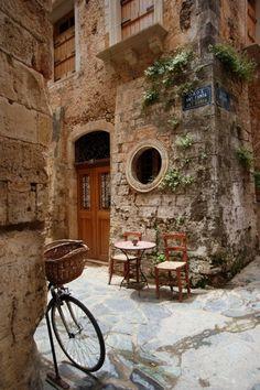 Side street in the island of Crete