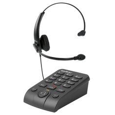 FRETE GRÁTIS - Telefone headset com base discadora hsb50 preto intelbras fg