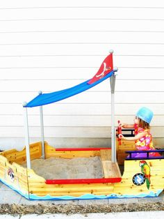 adorable pirate ship sandbox!