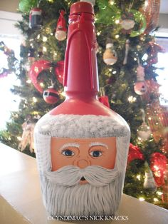 Santa Maker's Mark Bottle by CyndiMacsNickKnacks on Etsy, $30.00
