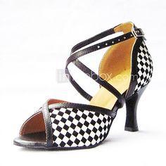 7890b398983 Non Customizable Women s Dance Shoes Latin Leatherette Stiletto Heel  Black Blue Red Gold