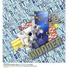 Digital Scrapbooking Kit - TO THE MOON Page Kit | ForeverJoy Designs