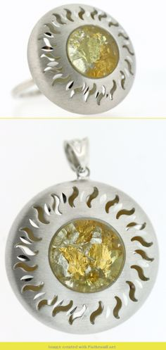 Add a little gold flash to your wardrobe, these pieces are silver with gold nugget flakes in the center.