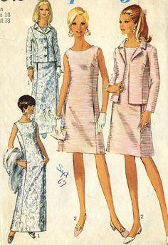 Vintage 60s Simplicity 7349 Misses UNCUT Mother of by RomasMaison