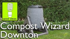 The Compost Wizard Downton by Good Ideas, Inc. is the next wave of composting technology. Composting is a great way to recycle your food and yard scraps into. Composters, Ways To Recycle, Good Things, Outdoor Decor, Projects, Log Projects, Compost