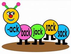 Teacher Fun Files: CVC Word Family in Caterpillar Illustration Cvc Word Families, Classroom Bulletin Boards, Visual Aids, Cvc Words, Picture Cards, Best Teacher, Caterpillar, Phonics, Grade 2