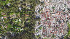 As linhas que dividem ricos e pobres captadas por drones