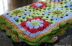 baby crochet blanket #granny squares