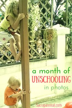 A month of unschooling in photos: What did learning look like in June for my unschooling kids? | Sacraparental.com