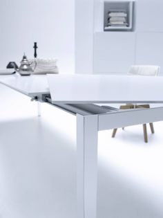 Hyper-modern table made with #HIMACS and fabricated by MDF Italia. #Furniture #Design