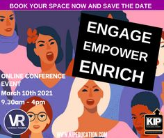 Annual Women's Conference March 2021: ENGAGE, EMPOWER, ENRICH - KIP Education Services LTD Inspirational Speakers, Youth Worker, Understanding Anxiety, Mental Health Problems, Secondary School, Music Industry, Social Issues, Oppression