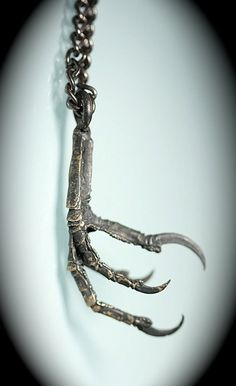 Blackened Bronze Bird Claw Necklace Made in NYC от billyblue22, $34.00