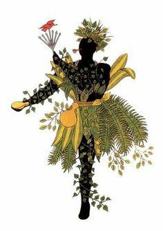 Ossãe Orisha, African American Art, African Art, Black Women Art, Black Art, African Drawings, Oshun Goddess, Magick Book, Spirited Art