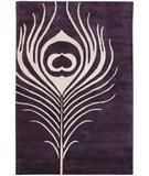 RugStudio presents Chandra Thomas Paul - Tufted Pile Feather Plum-Cream FEPC Hand-Tufted, Good Quality Area Rug - plum living room