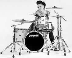 Emmanuelle Caplette. Fantastic drummer with great chops, sharp articulation, solid time...and beautiful...