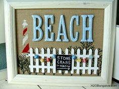 Fun Beachy wall art can be personalized with your name or favorite beach spot