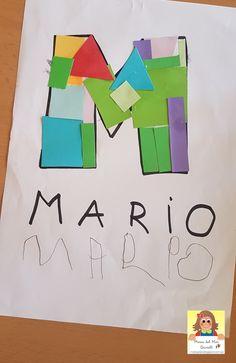 Preschool Names, Pre K Activities, Letter Activities, Preschool Learning Activities, Kindergarten Crafts, Preschool Activities, Teaching Kids, Kids Learning, Preschool Body Theme