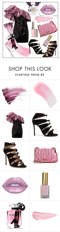 """Kosmey"" by ledile ❤ liked on Polyvore featuring Yves Saint Laurent, Charlotte Tilbury, Gianvito Rossi, Miu Miu, Lime Crime, Victoria's Secret, By Terry, Clarins, Pink and ledile"