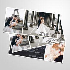 DANKESKARTE HOCHZEIT Danksagung Hochzeit personalisiert | Etsy Photography Marketing, Polaroid Film, Etsy, Wedding, Period, Website, Check, Thanks Card, Diy Gifts