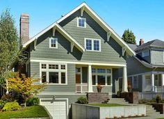 House paint ideas green exterior house color schemes brown roof full size of house colors green . Green Exterior Paints, Green Siding, Best Exterior Paint, Exterior Paint Colors For House, Paint Colors For Home, Exterior Colors, Exterior Design, Paint Colours, Sage Green House