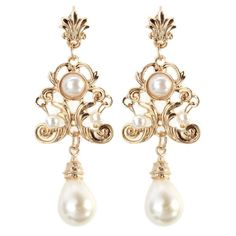 vintage dangle earrings #pearl