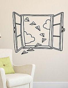 αυτοκόλλητα τοίχου αυτοκόλλητα τοίχου, σύγχρονη το τοπίο έξω... – USD $ 24.99