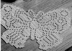 Yarn Forward Knitted Crocheted Butterfly Mats ~ free pattern