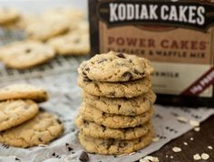 Peanut butter Cookies without Brown Sugar Beautiful Chocolate Chip Cookies Kodiak Cakes Chocolatechipcookies Kodiak Cake Muffins, Kodiak Cakes, Chip Cookie Recipe, Cookie Recipes, Dessert Recipes, Healthy Baking, Healthy Desserts, Healthy Foods, Healthy Recipes