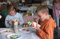 Kreative Aktionen der Kinder-Biennale im Beutau-Atelier. Hier die Vorbereitung der Nikolausversteigerung im Herbst 2015. Workshop, Atelier, Fall 2015, Things To Do, Kids