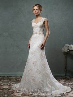 Cap Sleelves V Neckline Lace Embroidery A-line Wedding Dress is your best choice. Cap Sleelves V Neckline Lace Embroidery A-line Wedding Dress with top quality and discount price with any size, We provide best dresses & Accessories And service Livechat. Popular Wedding Dresses, Wedding Dresses For Sale, Wedding Dress Shopping, Bridal Dresses, Wedding Gowns, Lace Wedding, Trendy Wedding, Mermaid Dresses, Mermaid Wedding