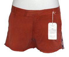 Lucky Brand Womens Shorts SIENNA Embroidered Cutoffs Chinos Relaxed Fit 29 NEW #LuckyBrand #CasualShorts