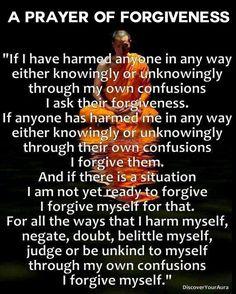 forgiving me