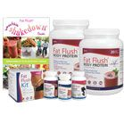 1-Month Smoothie Shakedown Bundle-- 2 Fat Flush Body Proteins, 1 Fat Flush Kit, Shakedown Guide