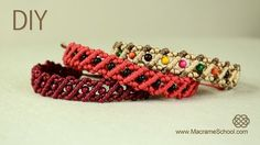 Striped Macrame Bracelet with Beads « Jewelry