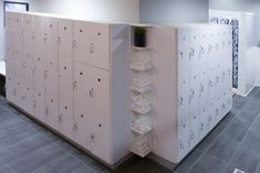 lockers...are those keys on wristbands so clients don't lose them?