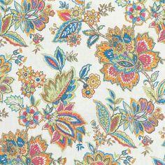 Tissu coton indienne Jacobean Mondial Tissus