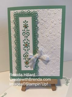 The Ornate Garden suite by Stampin'Up! Is breathtakingly beautiful with endless creative possibilities💕 Birthday Cards, Birthday Images, Birthday Greetings, Happy Birthday, Card Sentiments, Embossed Cards, Stamping Up Cards, Card Making Techniques, Motif Floral
