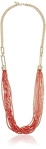 Kenneth Cole New York Coral Canyon SeedBead MultiRow Long Necklace ** Check this awesome product by going to the link at the image.