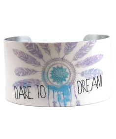 Look at this #zulilyfind! White & Purple 'Dream' Cuff #zulilyfinds