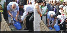 PM Modi launches Swachh Bharat mission.   On Mahatma Gandhi's 145th birth anniversary, Prime Minister Narendra Modi on Thursday kicked off Clean India or Swachh Bharat mission by sweeping a pavement at Valmiki Basti in the capital.