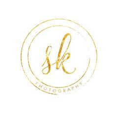 Custom Premade Logo Design -Simple, Elegant Gold Sparkle Circular Photography Logo Watermark by LuckyLogoBoutique on Etsy