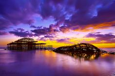 Sunset On The West Pier, via Flickr.