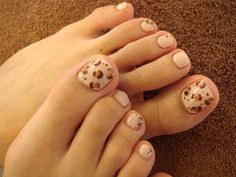 Leopard print toes.  All hand painted!
