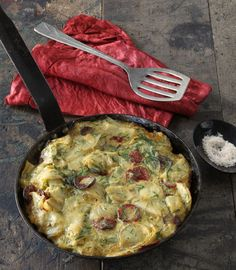 Potato + Chorizo Spanish Tortilla