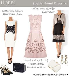 Pink Cocktail Dress Navy Ivory and Black Lace Shift Dresses : Occasion Outfits