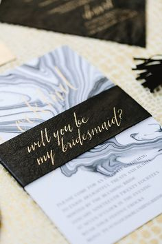 Will you be my bridesmaid   Modern inspiration   Invites by Bliss and Bone   photo by Erin Hearts Court
