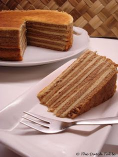 Spekkoek (Dutch Indonesian-style layer cake) from The Dutch Table