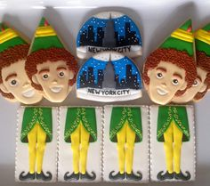 ".Oh Sugar Events Elf cookies""buddy the Elf"""