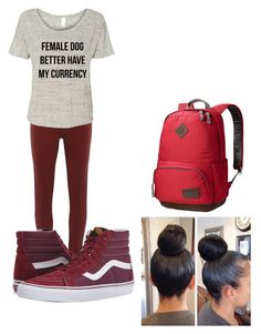 """School outfit"" by cannonsamiya on Polyvore featuring Dorothy Perkins, Vans, Jack Wolfskin, women's clothing, women, female, woman, misses and juniors"