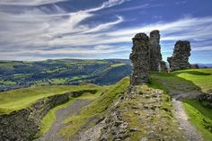 Wall and Views Castell Dinas Bran Wales